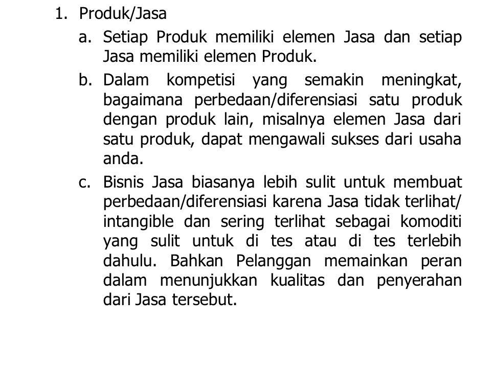 LDKJFAK 1.Produk/Jasa a.Setiap Produk memiliki elemen Jasa dan setiap Jasa memiliki elemen Produk.