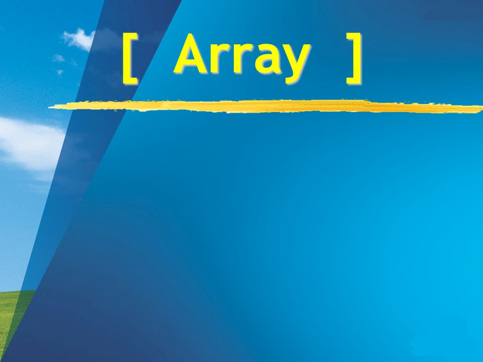 Karakteristik zLarik (array) adalah tipe terstruktur yang terdiri dari sejumlah komponen yang mempunyai tipe yang sama.