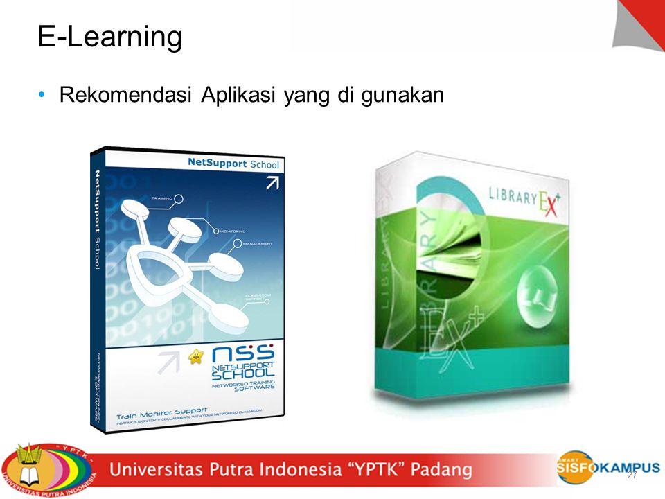27 E-Learning Rekomendasi Aplikasi yang di gunakan 27