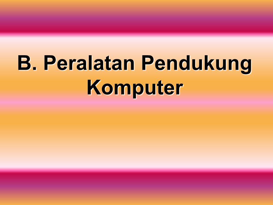 B. Peralatan Pendukung Komputer
