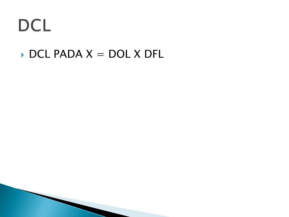  DCL PADA X = DOL X DFL