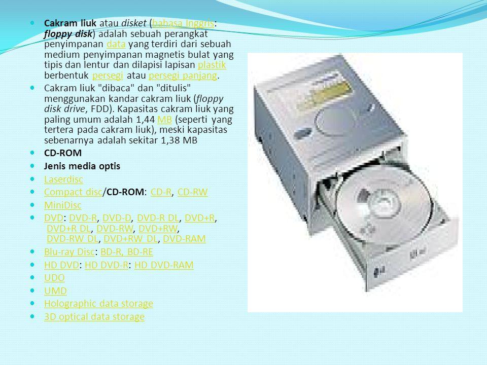 Cakram liuk atau disket (bahasa Inggris: floppy disk) adalah sebuah perangkat penyimpanan data yang terdiri dari sebuah medium penyimpanan magnetis bu