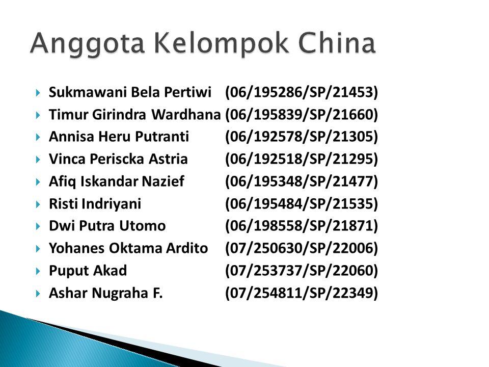  Sukmawani Bela Pertiwi (06/195286/SP/21453)  Timur Girindra Wardhana(06/195839/SP/21660)  Annisa Heru Putranti(06/192578/SP/21305)  Vinca Perisck