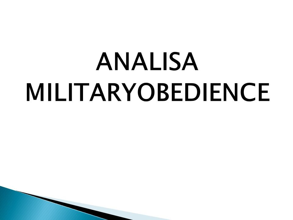 ANALISA MILITARYOBEDIENCE