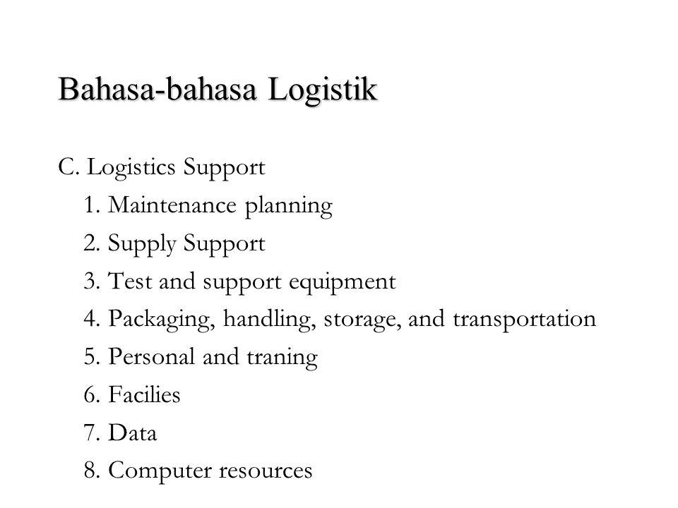 Bahasa-bahasa Logistik A. System Engineering 1. Pendekatan top-down 2. Orientasi life-cycle 3. Identifikasi keperluan sistem 4. Interdiciplinary effor