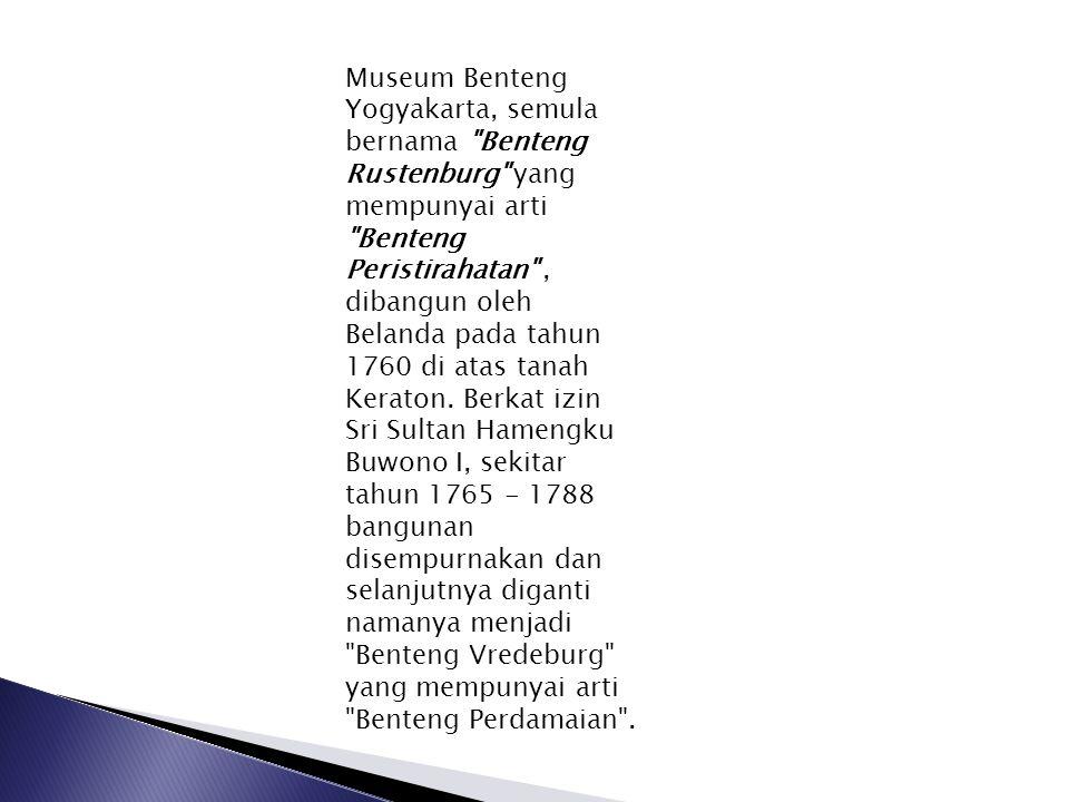 Museum Benteng Yogyakarta, semula bernama