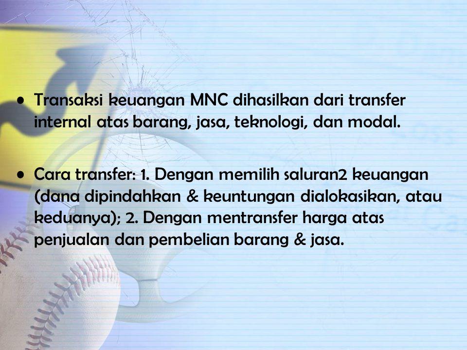 SISTEM KEUANGAN PERUSAHAAN MULTINASIONAL (MFS) MFS: keseluruhan dari mekanisme transfer internal yang tersedia bagi MNC untuk membagi keuntungan dan u