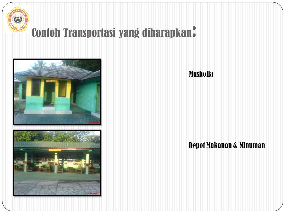 Contoh Transportasi yang diharapkan : Musholla Depot Makanan & Minuman