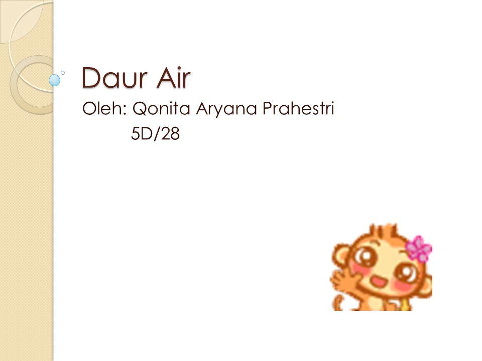 Daur Air Oleh: Qonita Aryana Prahestri 5D/28