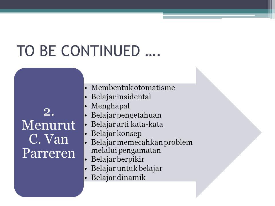 TO BE CONTIUNED ….Menurut Thomas M.