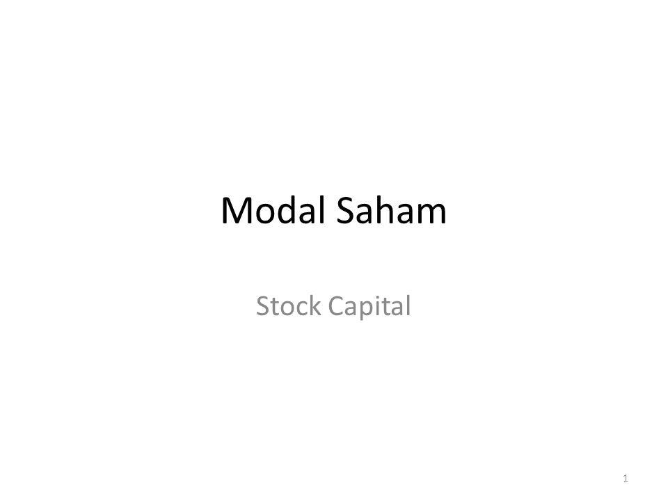 Modal Saham Stock Capital 1