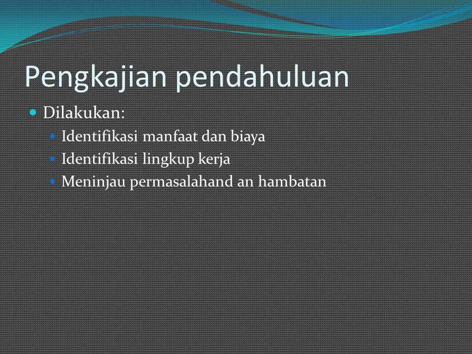 Kerangka acuan Atau term of reference.