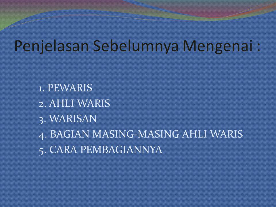 ahli waris yang mempunyai bagian-bagian tertentu sebagaimana disebutkan dalam Al Qur'an dan Sunnah.