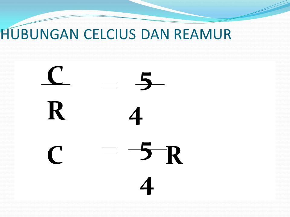 HUBUNGAN CELCIUS DAN REAMUR C 5 R 4 C 5 R 4