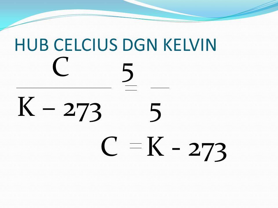 HUB CELCIUS DGN KELVIN C 5 K – 273 5 C K - 273