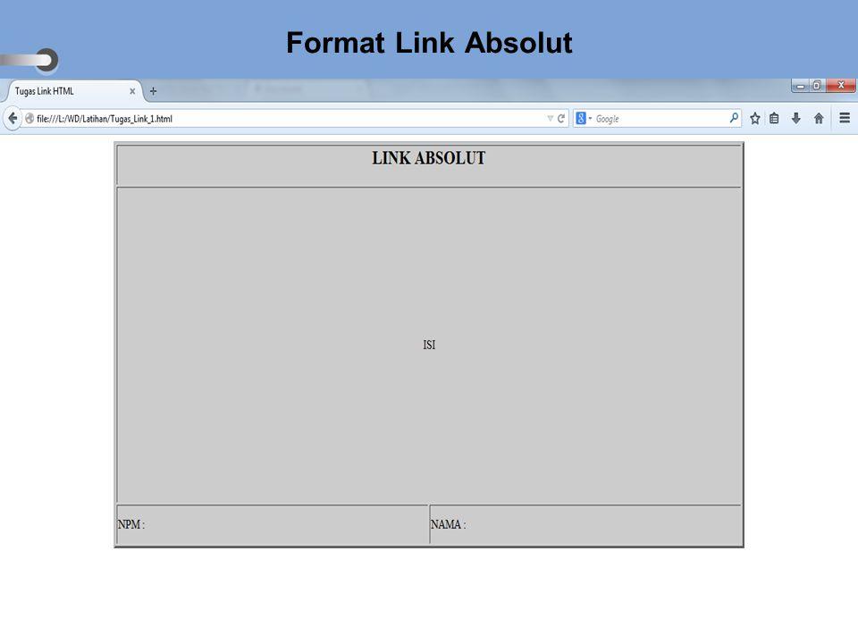 Format Link Absolut