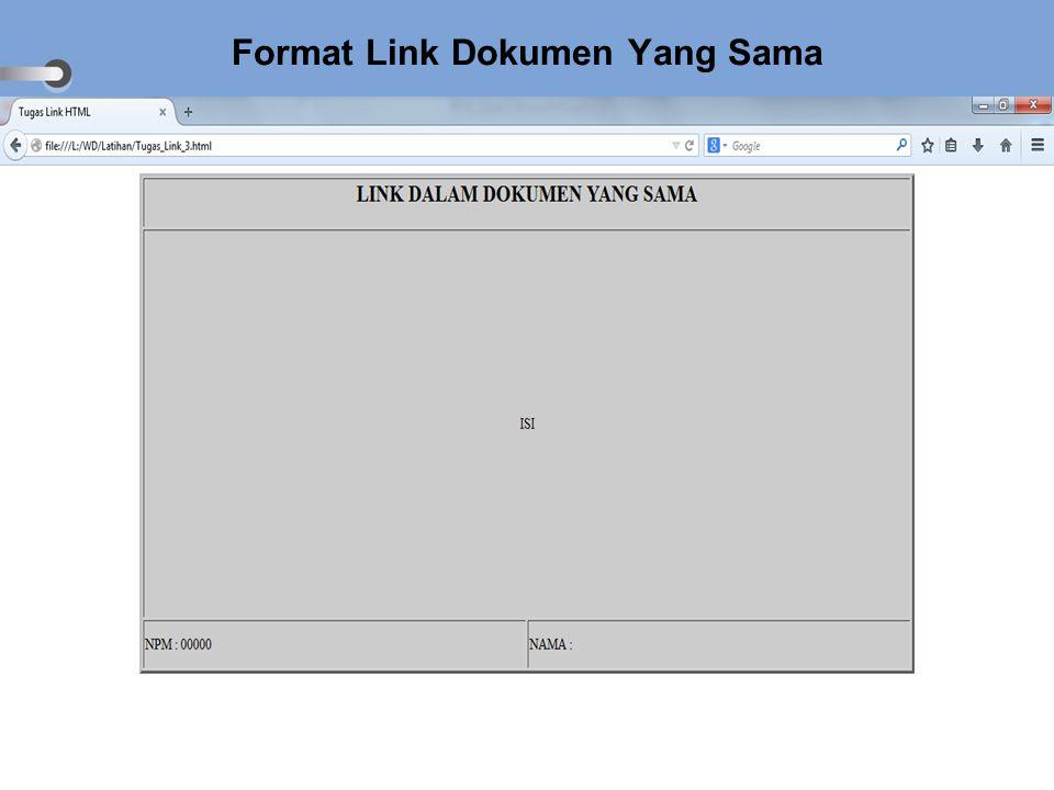 Format Link Dokumen Yang Sama