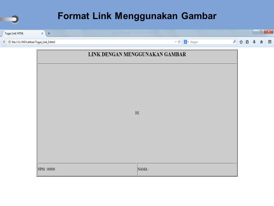 Format Link Menggunakan Gambar