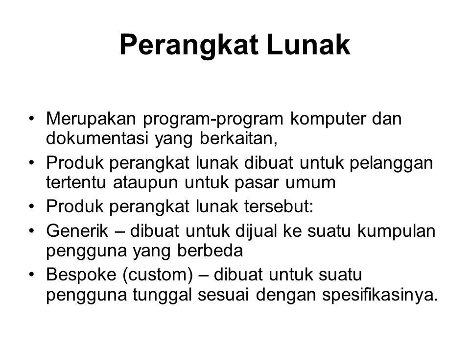 Rekayasa Perangkat Lunak: adalah suatu disiplin rekayasa yang berkonsentrasi terhadap seluruh aspek produksi perangkat lunak.