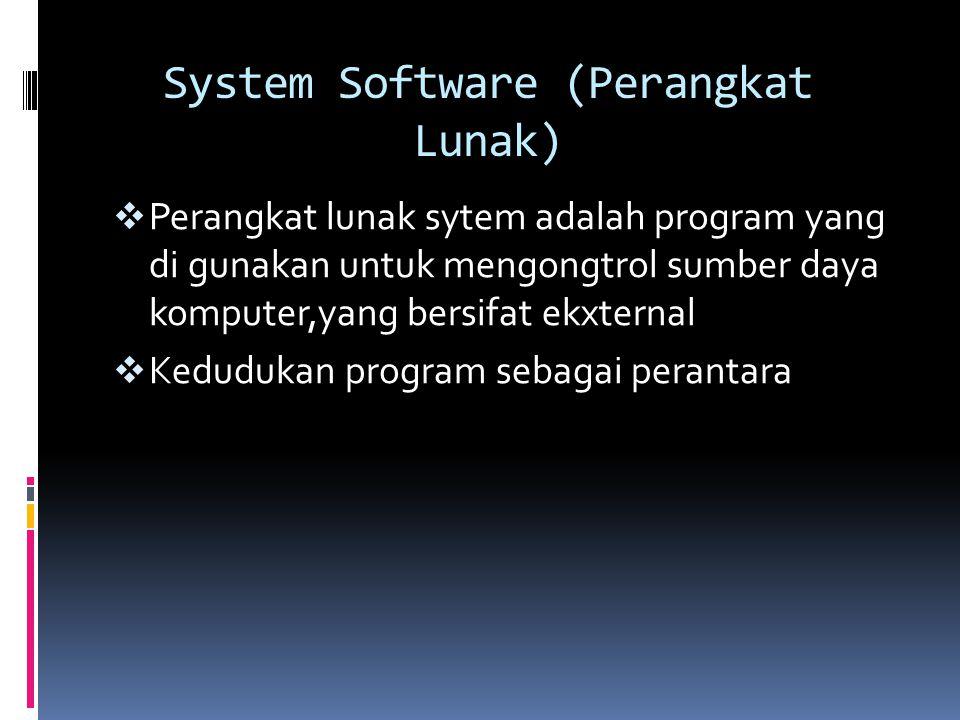 Brainware (Perangkat Pemikir)  Data Entry Computer  Operator Komputer  Programmer  System analyst