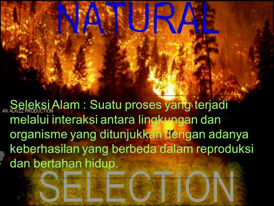 DateTimePlace Title Seleksi Alam : Suatu proses yang terjadi melalui interaksi antara lingkungan dan organisme yang ditunjukkan dengan adanya keberhas