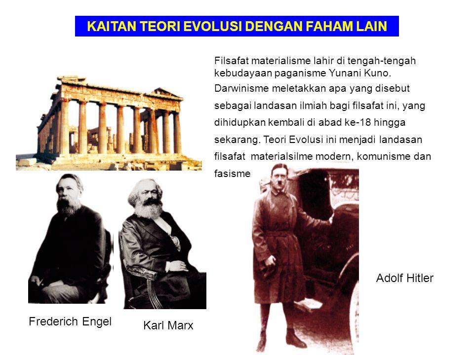 Filsafat materialisme lahir di tengah-tengah kebudayaan paganisme Yunani Kuno. Darwinisme meletakkan apa yang disebut sebagai landasan ilmiah bagi fil