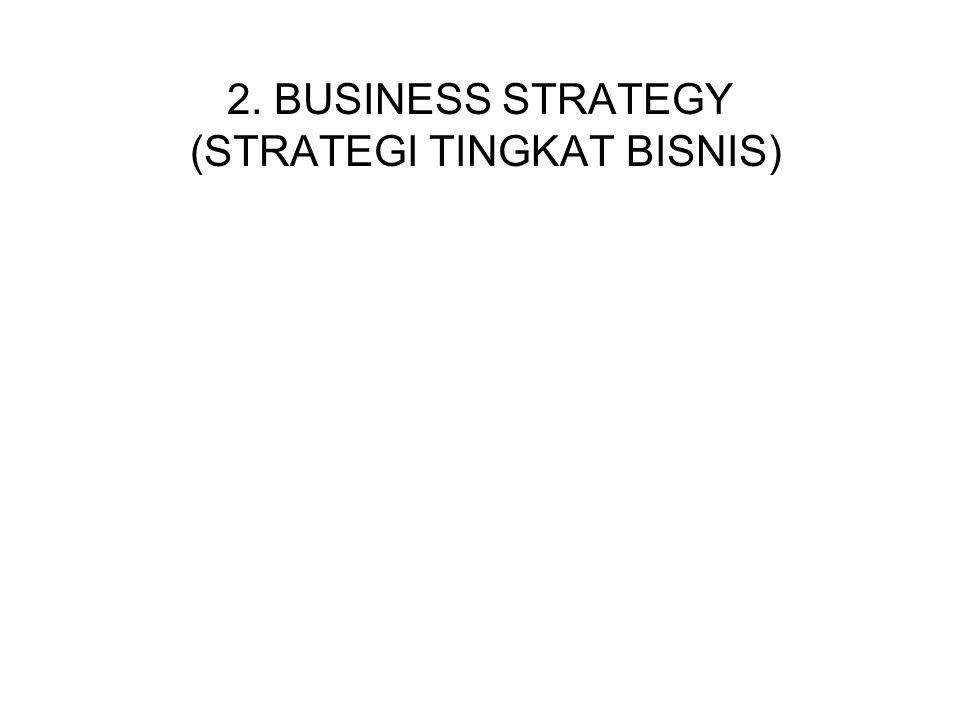 2. BUSINESS STRATEGY (STRATEGI TINGKAT BISNIS)
