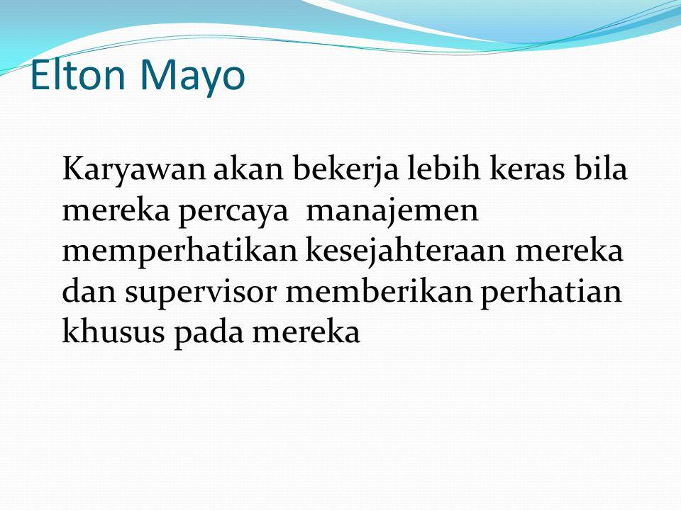 Aliran Hubungan Manusiawi Elton Mayo Abraham Maslow