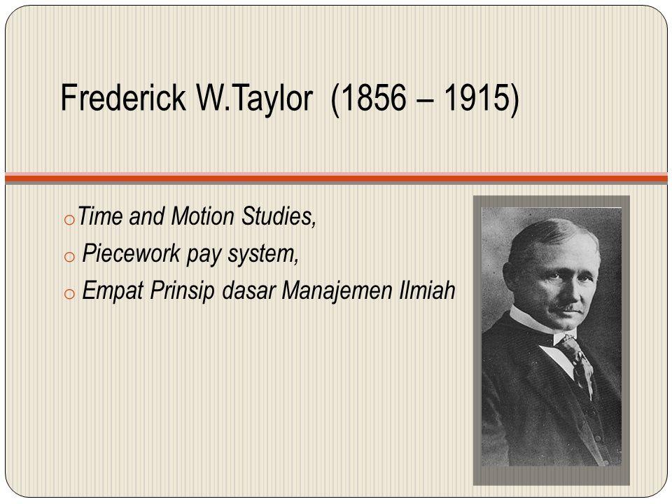 Ilustrasi Time Motion Studies & Piecework Pay System dari Taylor PekerjaKemampuan Pengerjaan dan Jumlah Upah yg diterima AKarena mampu mengerjakan 25 Unit atau diatas standar, maka upah yg diterima adalah 25 unit x Rp.