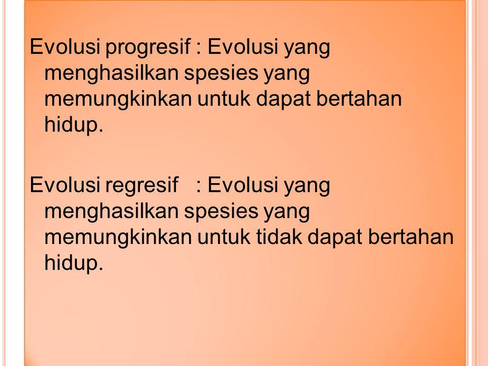 DEFINISI EVOLUSI Evolusi adalah perubahan yang berlangsung sedikit demi sedikit dan memakan waktu yang lama Evolusi yang terjadi pada organisme yang h