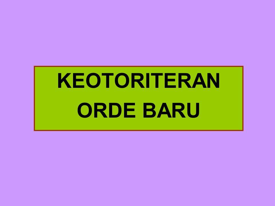 KEOTORITERAN ORDE BARU
