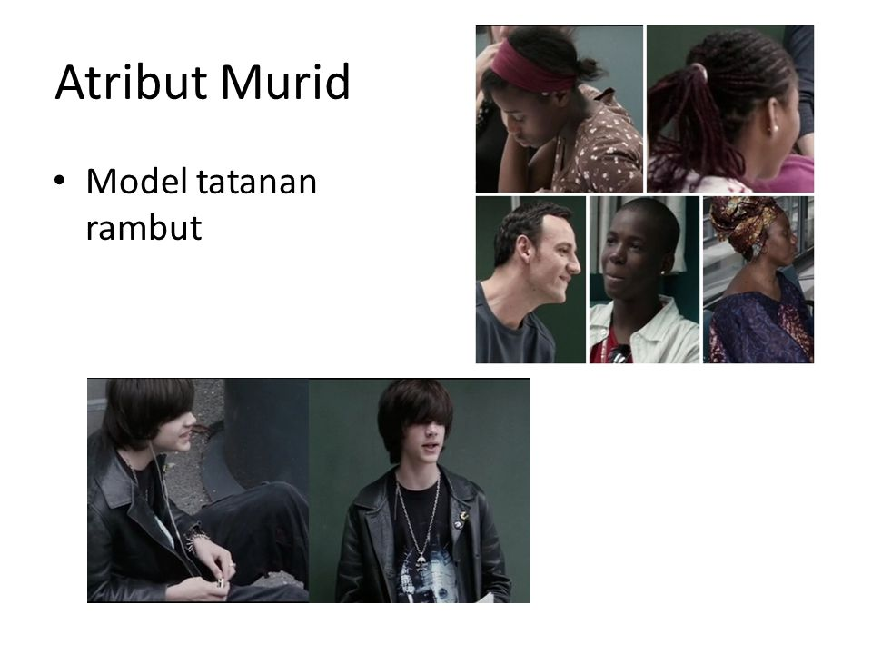 Atribut Murid Model tatanan rambut
