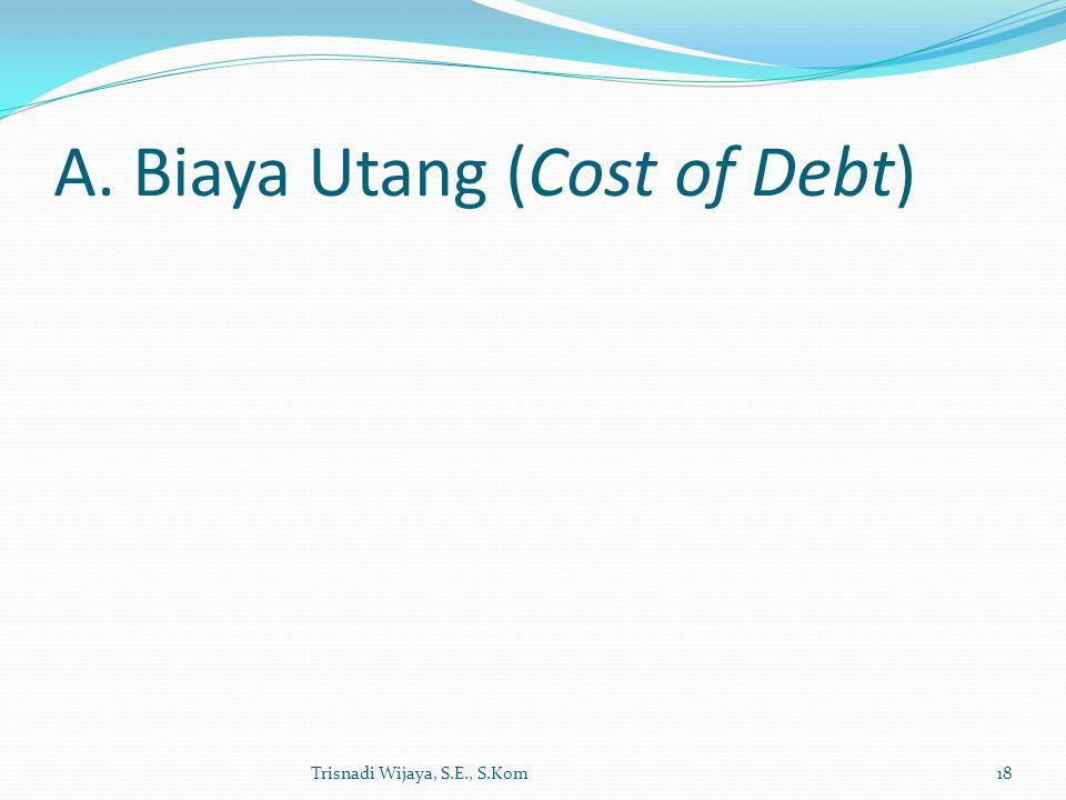 A. Biaya Utang (Cost of Debt) Trisnadi Wijaya, S.E., S.Kom18