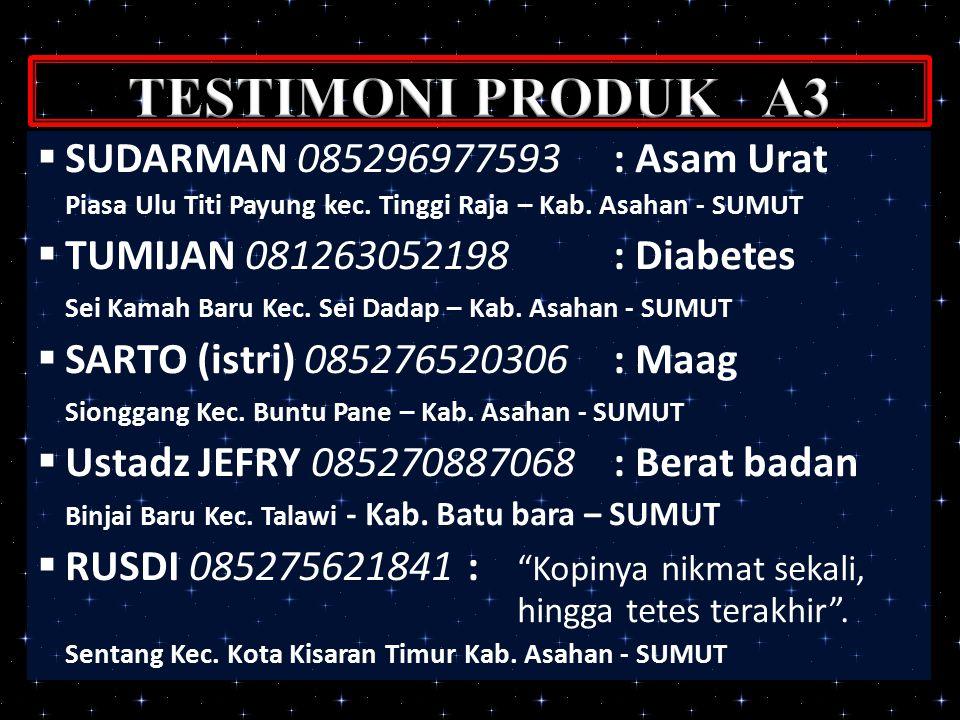  SUDARMAN 085296977593: Asam Urat Piasa Ulu Titi Payung kec.