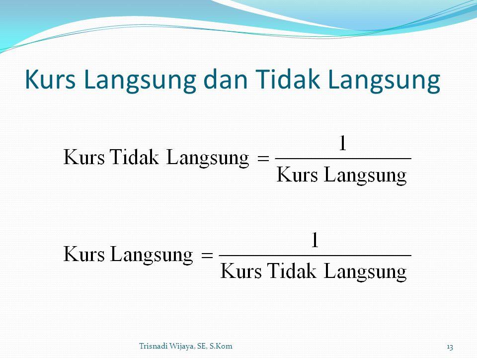 Kurs Langsung dan Tidak Langsung Trisnadi Wijaya, SE, S.Kom13