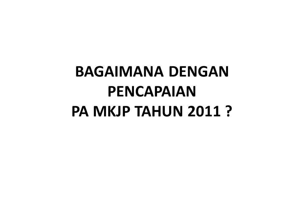 BAGAIMANA DENGAN PENCAPAIAN PA MKJP TAHUN 2011 ?