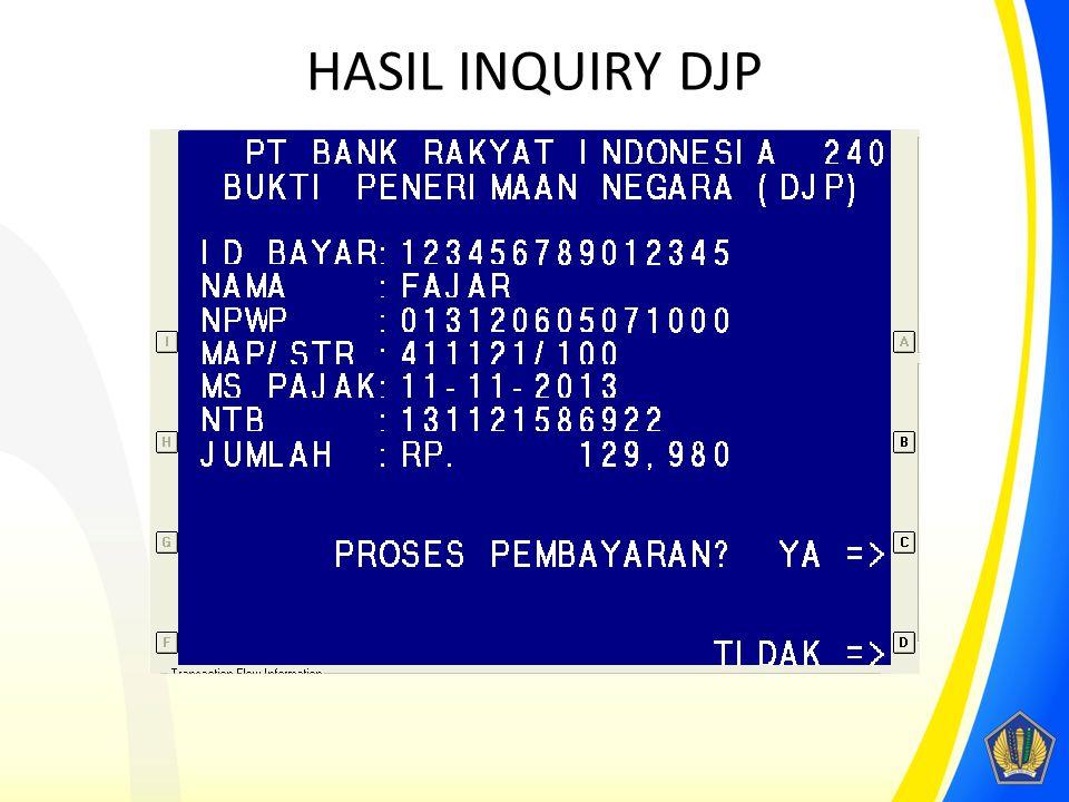 HASIL INQUIRY DJP