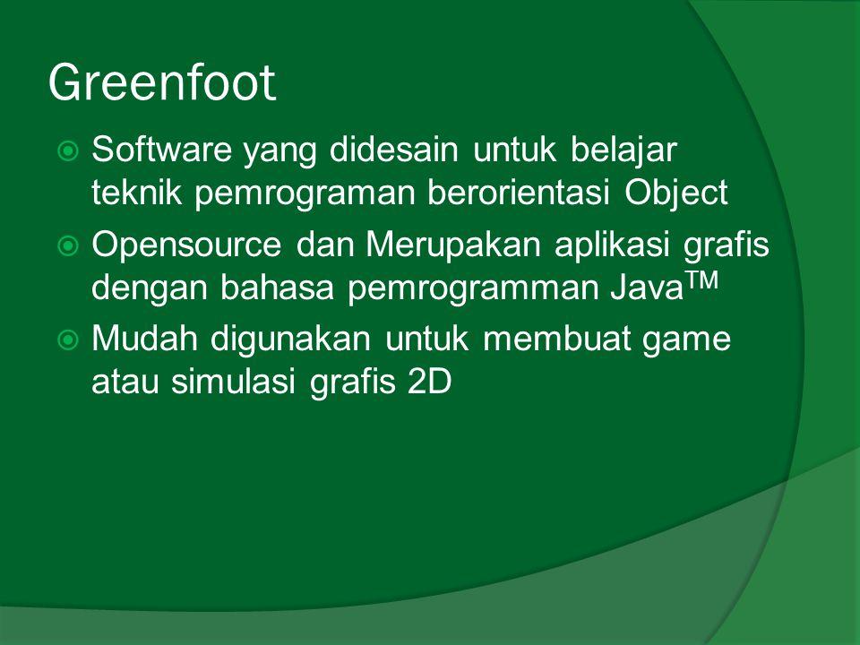 Instalasi  Greenfoot tersedia dalam beberapa Operating System (OS), salah satunya Ms.