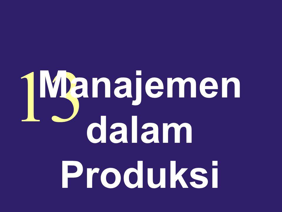 13 Manajemen dalam Produksi