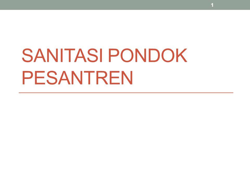 SANITASI PONDOK PESANTREN 1