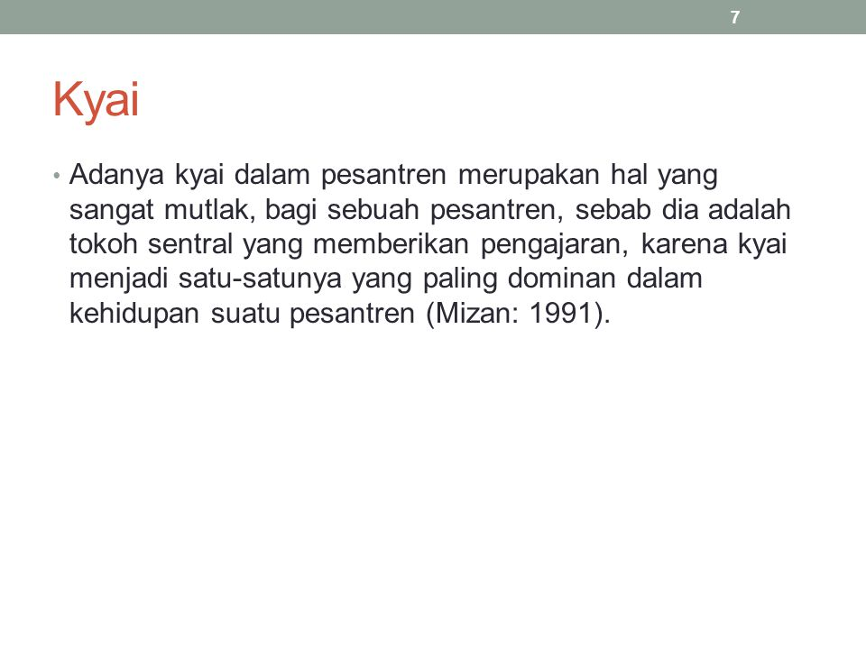 Santri unsur pokok dari pesantren, biasanya terdiri dari dua kelompok yaitu: a.