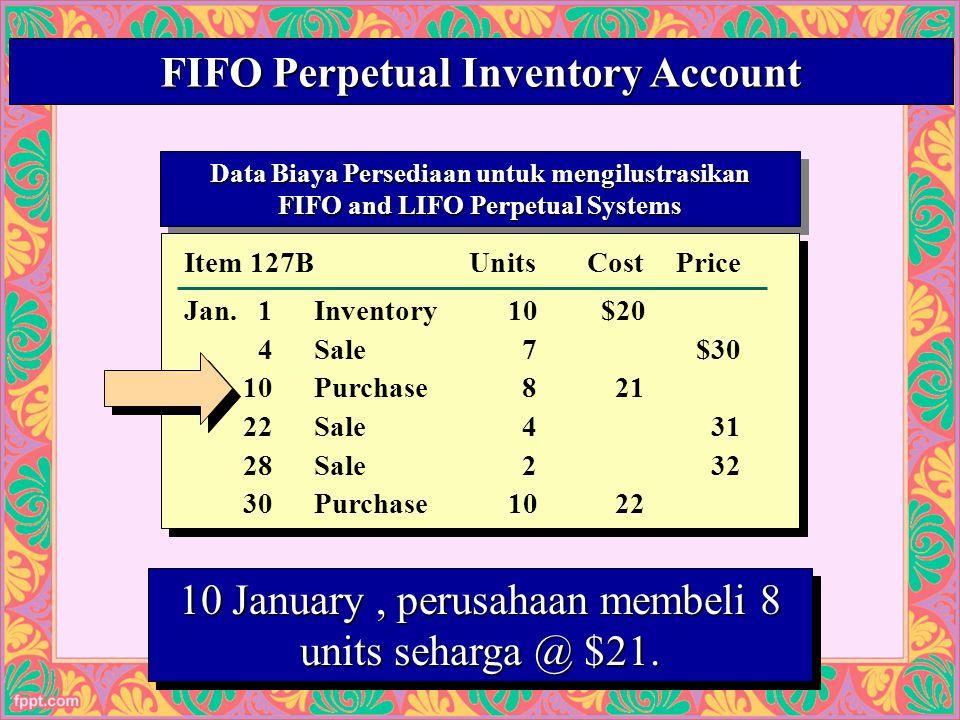 24 Data Biaya Persediaan untuk mengilustrasikan FIFO and LIFO Perpetual Systems Data Biaya Persediaan untuk mengilustrasikan FIFO and LIFO Perpetual Systems Cost of Mdse.