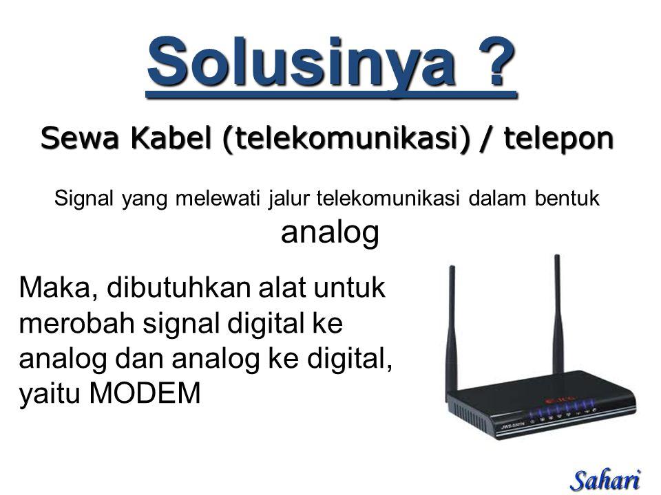 Sewa Kabel (telekomunikasi) / telepon Solusinya .