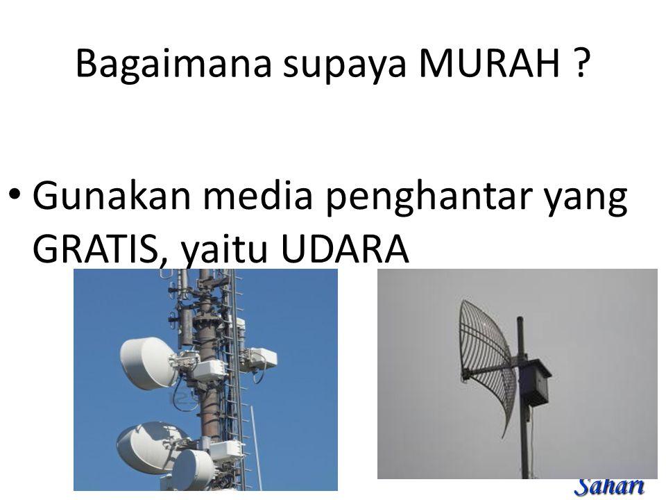 Bagaimana supaya MURAH Gunakan media penghantar yang GRATIS, yaitu UDARA Sahari