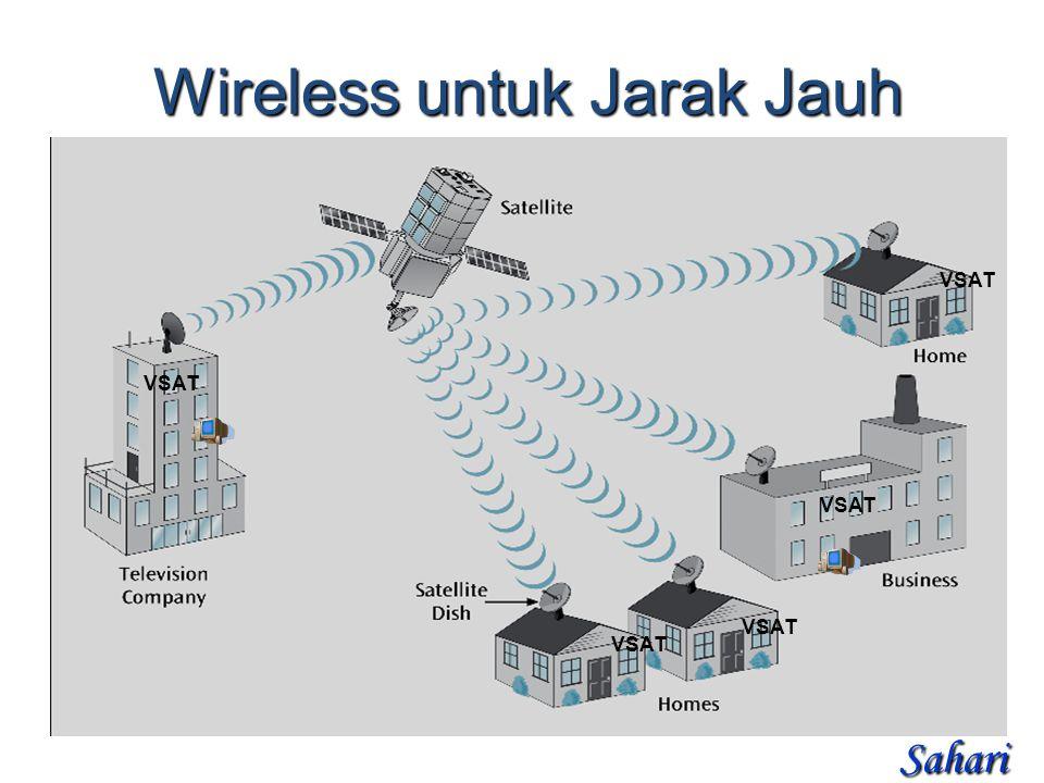 Wireless untuk Jarak Jauh VSAT Sahari