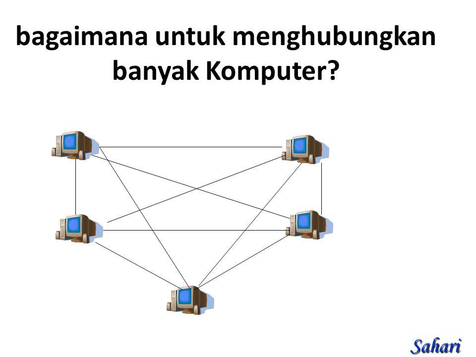 bagaimana untuk menghubungkan banyak Komputer Sahari