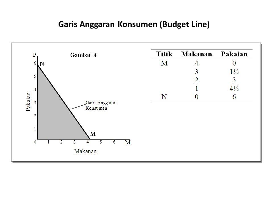 Garis Anggaran Konsumen (Budget Line)