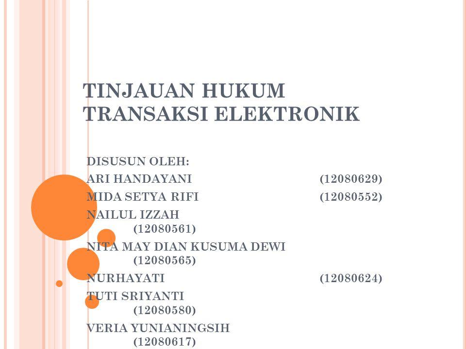c.Apabila dilakukan melalui Agen Elektronik, menjadi tanggung jawab Penyelenggara Agen Elektronik.