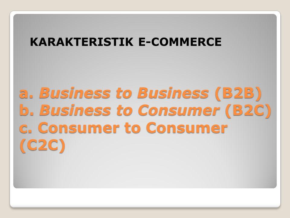B2B melibatkan pasar e- business dan hubungan pasar langsung antar perusahaan.