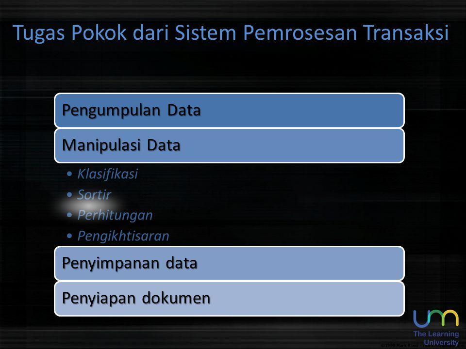 Pengumpulan Data Manipulasi Data KlasifikasiKlasifikasi SortirSortir PerhitunganPerhitungan PengikhtisaranPengikhtisaran Penyimpanan data Penyiapan do